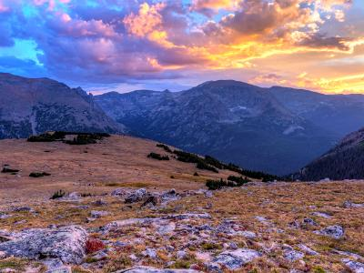 Ute Crossing Alpine Tundra Sunset