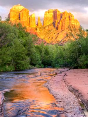 Sedona Cathedral Rock and Oak Creek Sunset