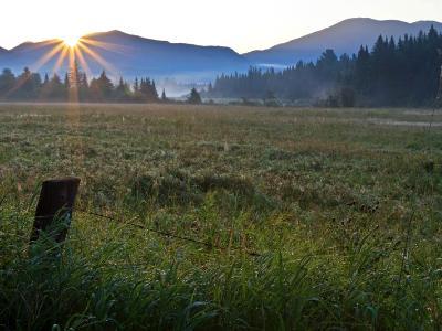 Moment of Sunrise on Adironack Field