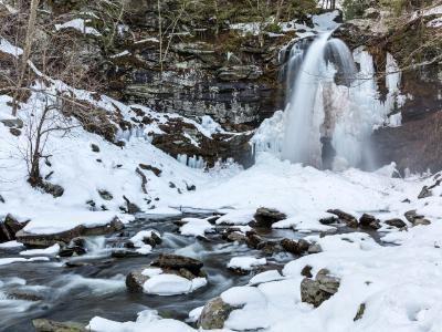 Plattekill Falls and Creek in Winter