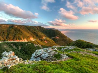 Green Cliffs Overlooking Cabot Trail