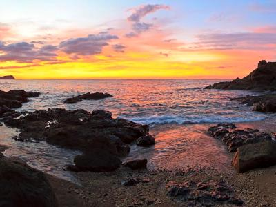 Playa Ocotal Sunset Panorama