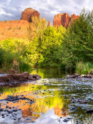 Red Rocks and Reflections