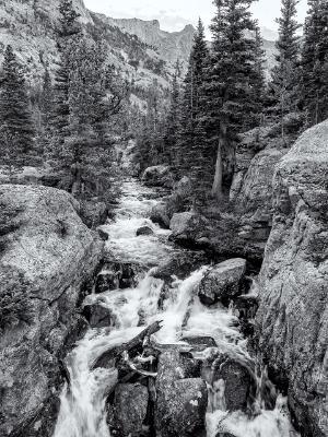 Glacier Creek B&W