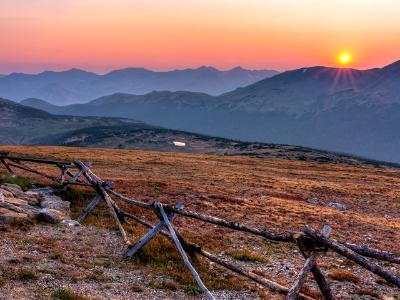Gore Range Overlook Smoky Sunset