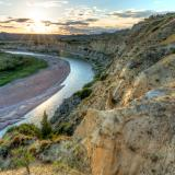 Wind River Canyon Golden Hour