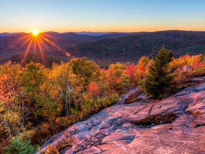 Sun Setting Behind Seneca Mountain