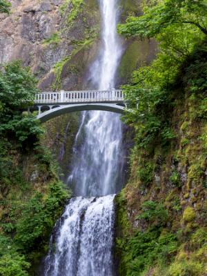Bridge over Multnomah Falls