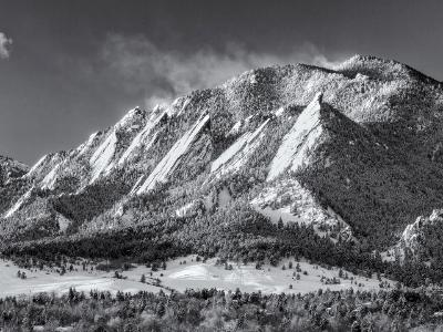 Flatirons and Green Mountain Blowing Soow