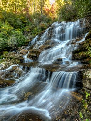 Middle Glen Falls in Autumn