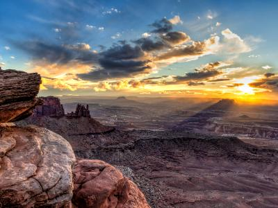 Golden Rays of Sunset from Grand Viewpoint