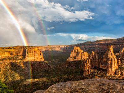 Monument Canyon Double Rainbow