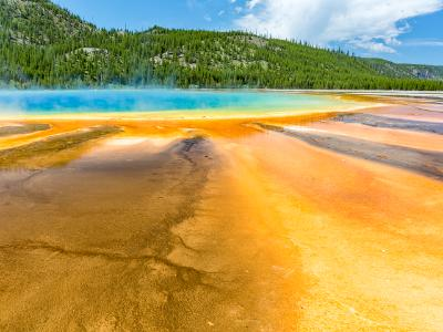 Orange and Turquoise of Grand Prismatic Springs