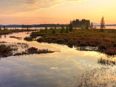 Raquette Lake Inlet Sunrise (Click for full width)