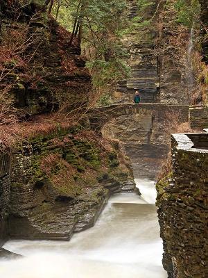 Treman Gorge Stone Bridge