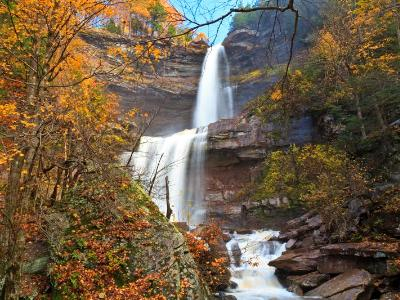 Kaaterskill Falls Autumn Wide View