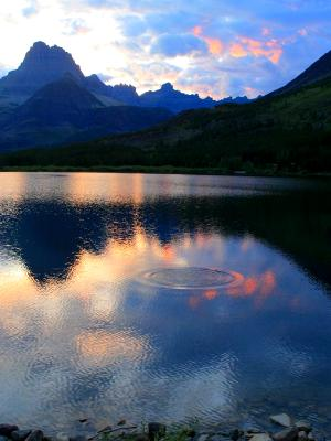 Swiftcurrent Sunset Ripples