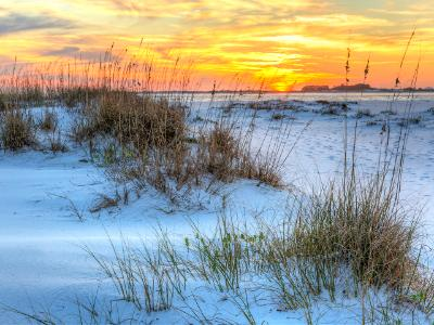 Sunset Over Fort Pickens Dunes