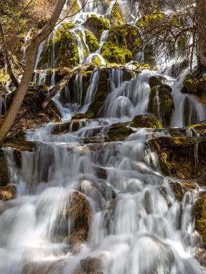 Waterfalls below Hanging Lake