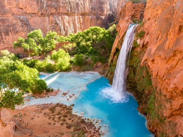 Foyer Oasis Grand Falls : Havasu falls turquoise canyon oasis colin d young
