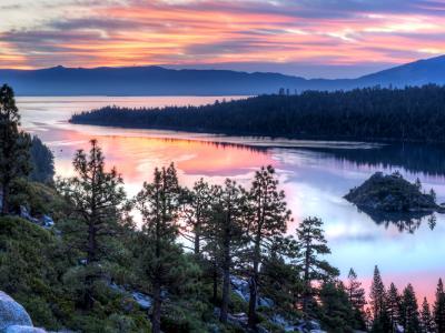 Emerald Bay Sunrise Panorama (Click for full width)
