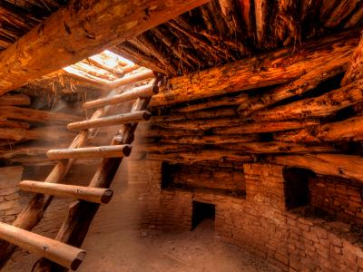 Kiva Ladder and Atmospheric Sunbeams