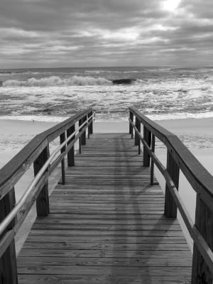 Boardwalk into the Surf
