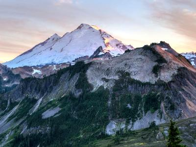 Mt. Baker Sunset Panorama (Click for full width)