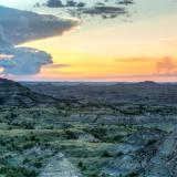 Painted Canyon Sunset