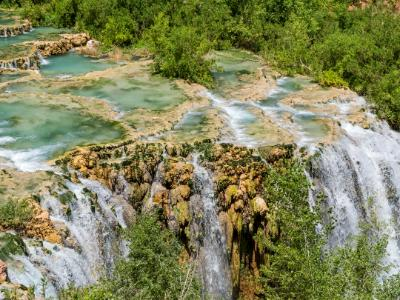 Little Navajo Falls and Travertine Pools
