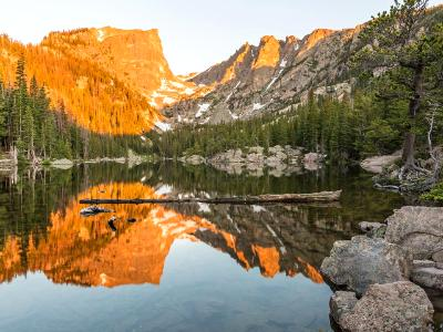 Dream Lake Sunrise Reflections