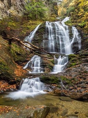 Stowe Moss Glen Falls from Below