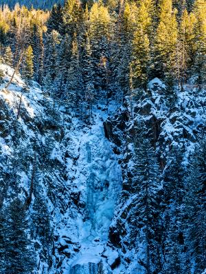 Frozen Fish Creek Falls