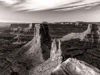 Marlboro Point Canyonlands Sunrise Black and White