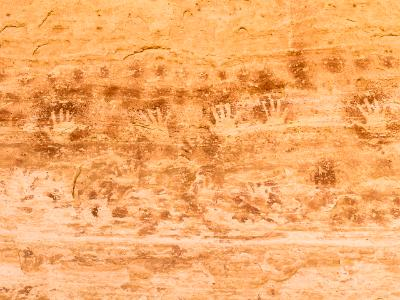 Handprint Pictographs at 17 Room Ruin