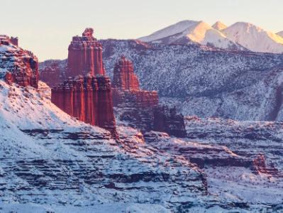 Fisher Towers Snow