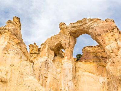 Colorful Sandstrone Double Arch