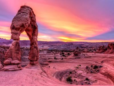 Delicate Arch Vibrant Sunset