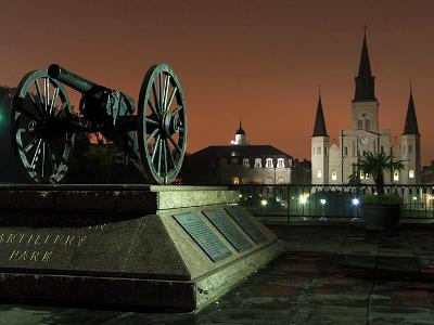 Cannon and Cathedral on Jackson Square