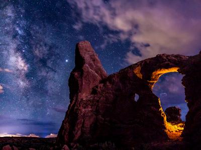 Antares and Milky Way over Turret Arch