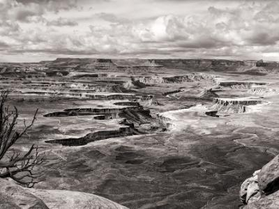 Green River Overlook Black & White Panorama