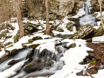 Partially Frozen Bushnellsville Falls