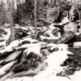 Bushnellsville Falls Black and White