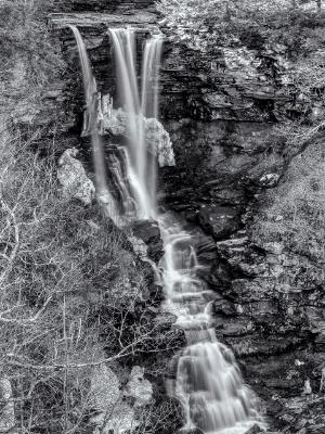 Silky Haines Falls Black and White