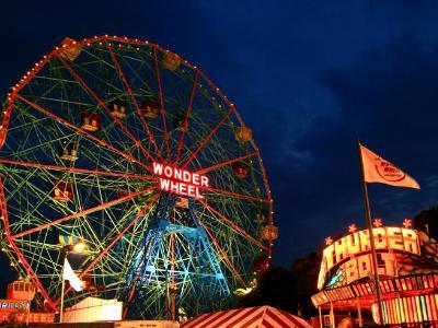 Wonder Wheel at Dusk