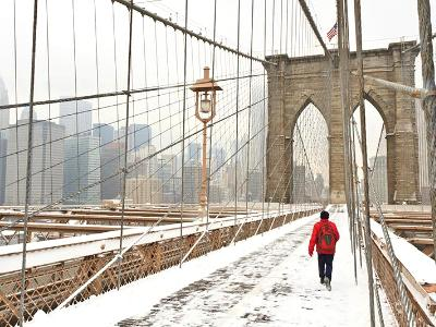 Brooklyn Bridge Red Jacket