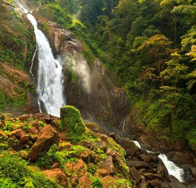 Costa RIcan Rainforest Waterfall