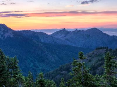 Hurricane Ridge Sunset Panorama (Click for full width)