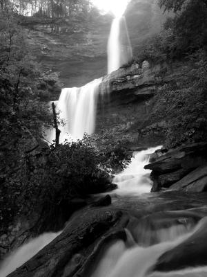 Silky Kaaterskill Falls (B&W)