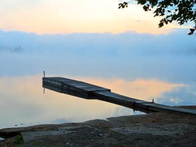 Serene Lake Dock